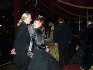 Clubbers in period dress at Eine rituelle Zusammenkunft