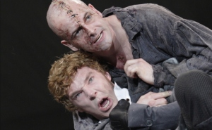 Benedict Cumberbatch as Frankenstein and Jonny Lee Miller as the Creature